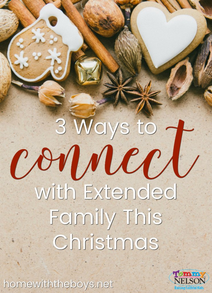 Great ideas for ways to connect with extended family this Christmas.
