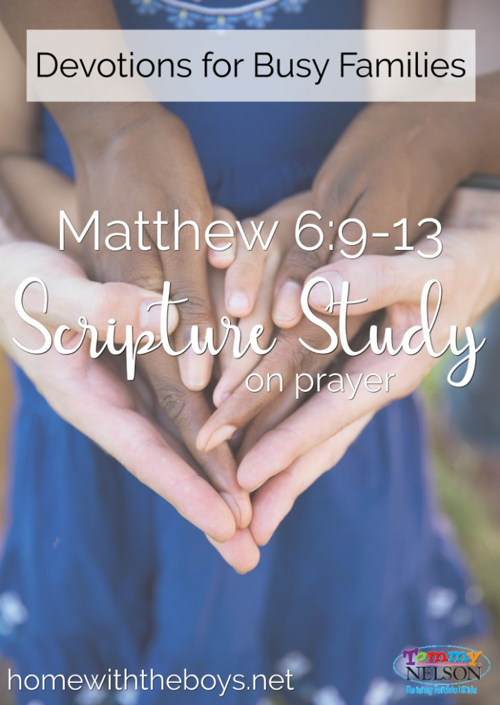 This is a great, simple family devotion on prayer that breaks down Mathew 6:9-13.