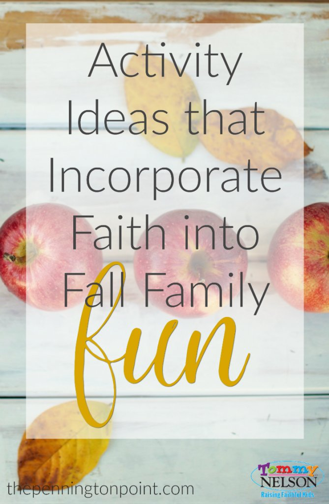 Activity ideas that incorporate faith into fall family fun. 5 ideas for a taking a faith-filled break from your daily routine.