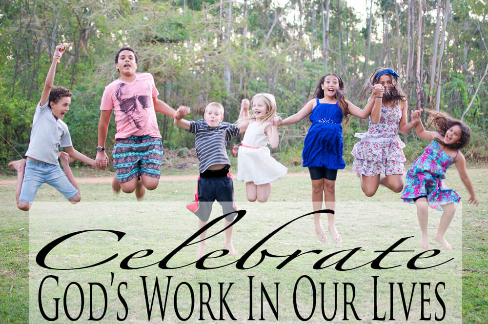 TN Mommy, Jen Price, shares about celebrating God's work in our lives.
