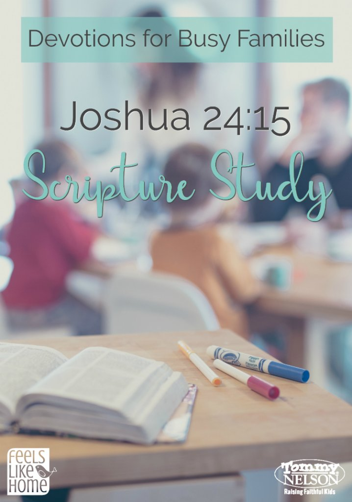 This is a simple but profound family devotion on Joshua 24 that discusses what it means to choose to serve God above other idols in our lives.