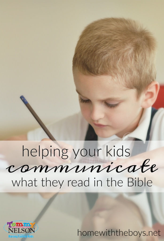 Helping Kids Communicate What They Read in the Bible