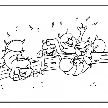 """Hermie, A Common Caterpillar"" Coloring Pages"