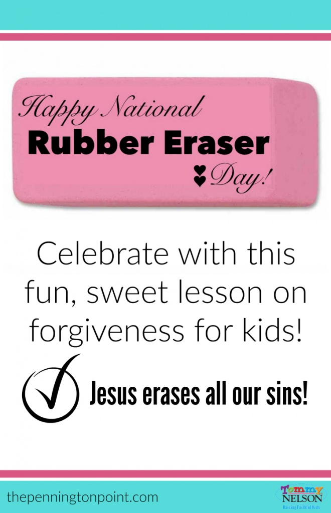 National Rubber Eraser Day Lesson on Forgivemess