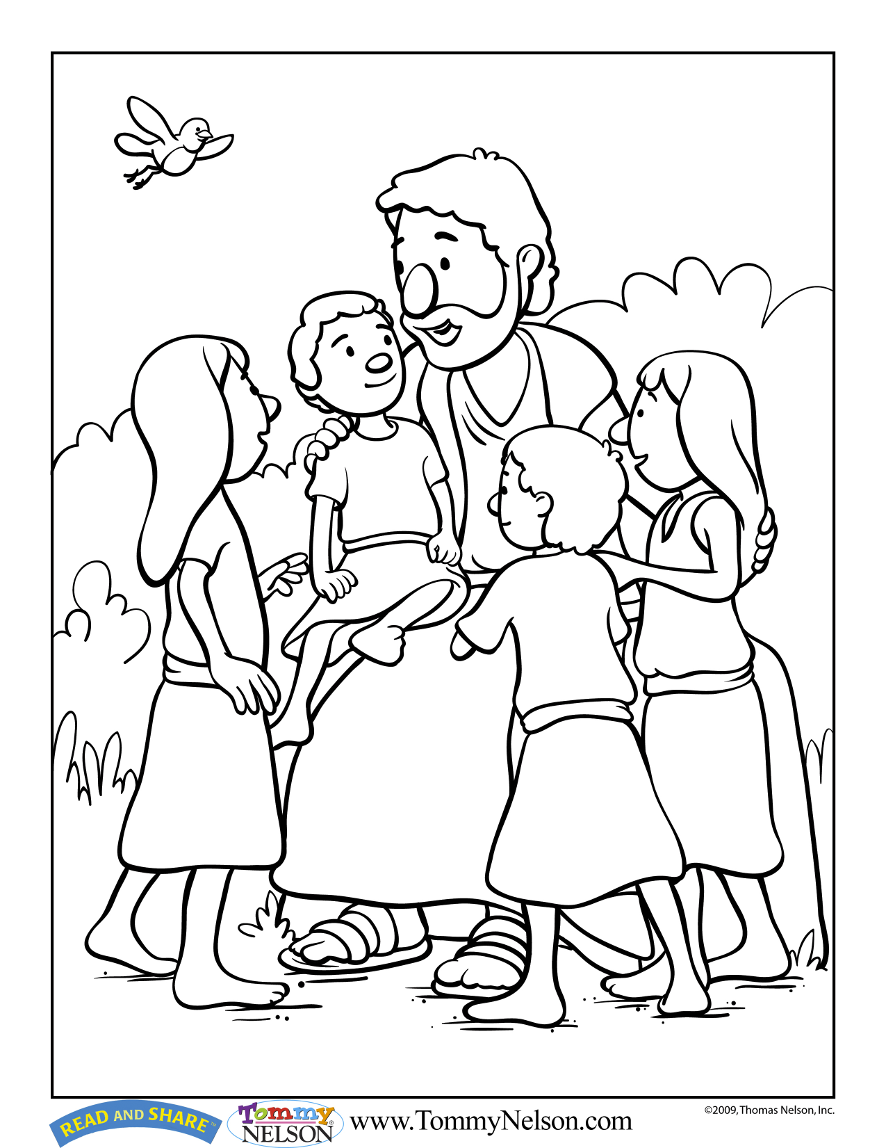 Read And Share Coloring Book