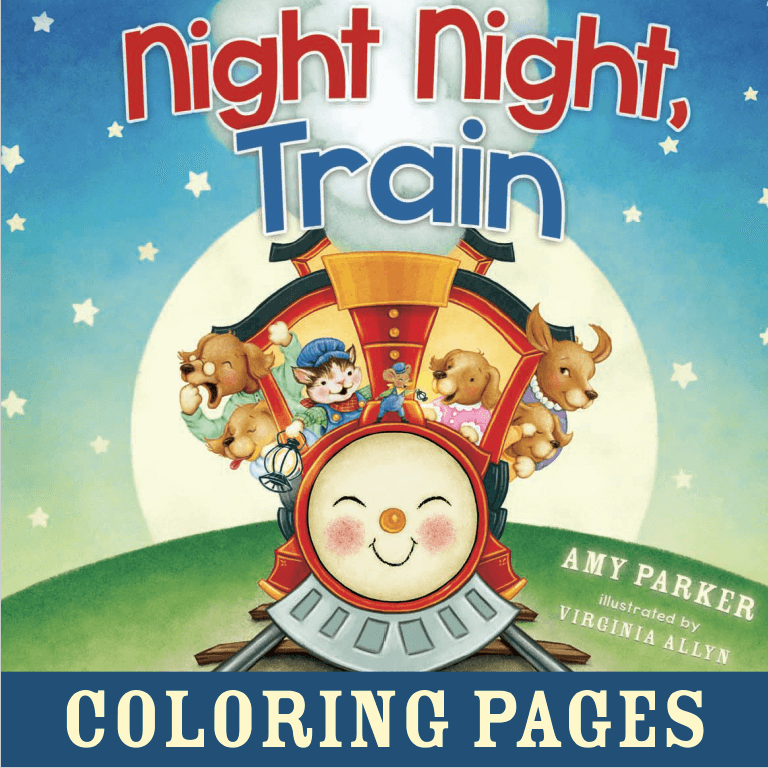 night night train coloring sheets amy parker