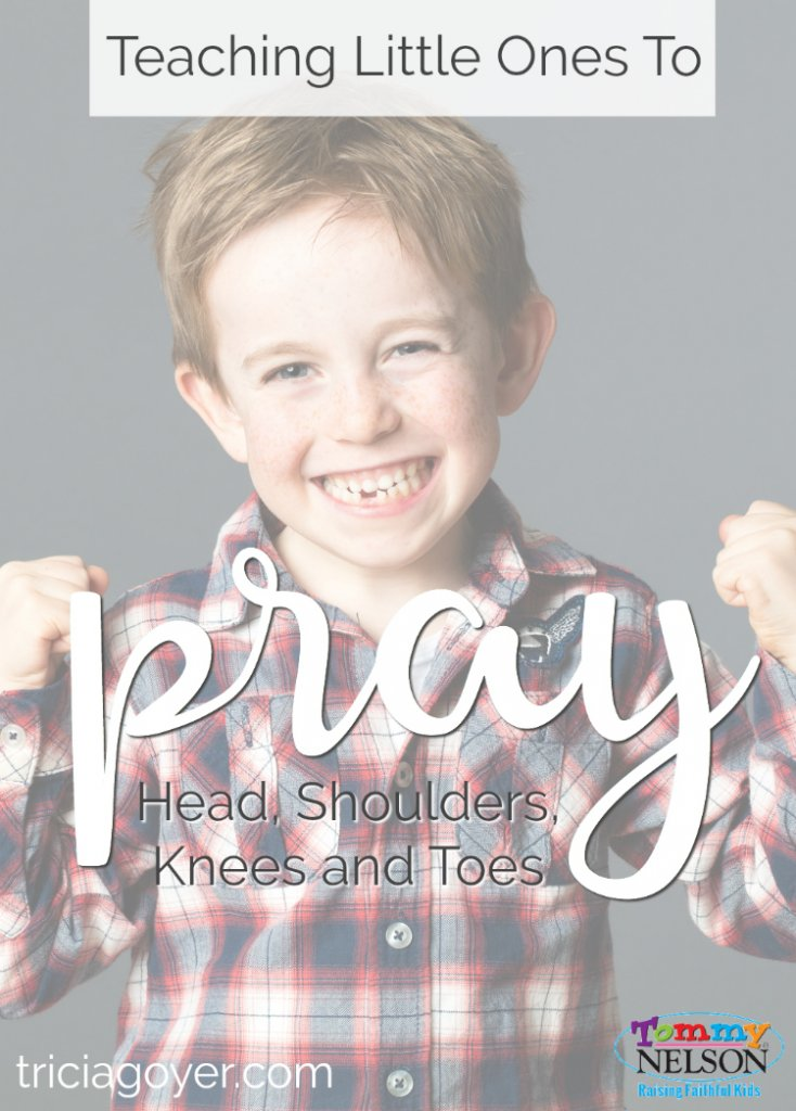 An adorable process for teaching little ones to pray for things beyond family and toys using the popular son, Head, Shoulders, Knees and Toes.