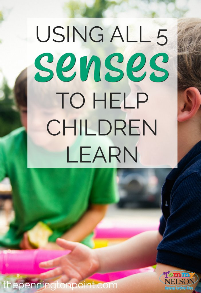 Using all 5 senses to help children learn can also help YOU when you feel stuck by a lesson. Try these simple ideas to get every part of your child engaged!
