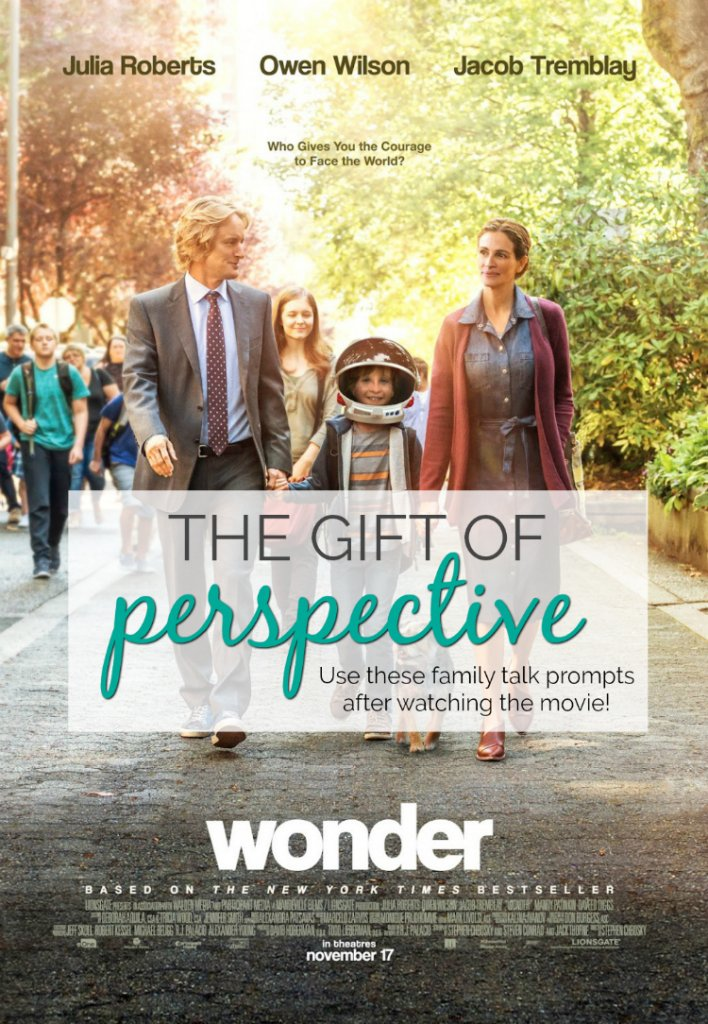 Wonder is out on DVD! Use these family talk prompts after watching the movie together!