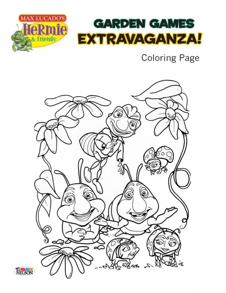 hermie and friends coloring pages hermie friends tommy nelson