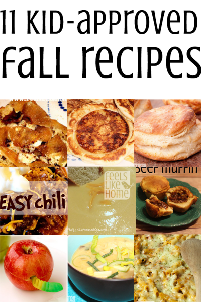 Fall recipes your kids will love.
